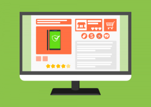 Illustration of an e-commerce web page
