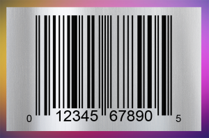 Image showing bar code on software