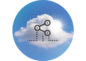 cloud with sharing icons